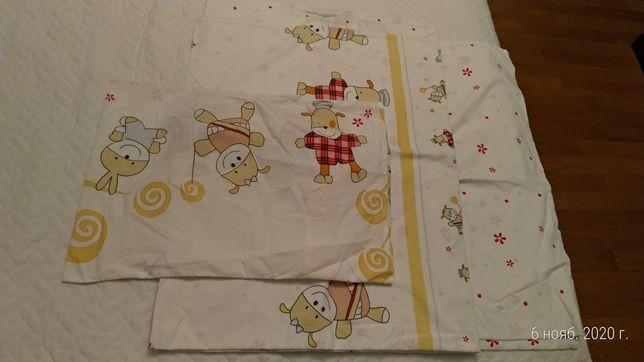 Комплект детского постельного белья, КПБ для кроватки 120х60