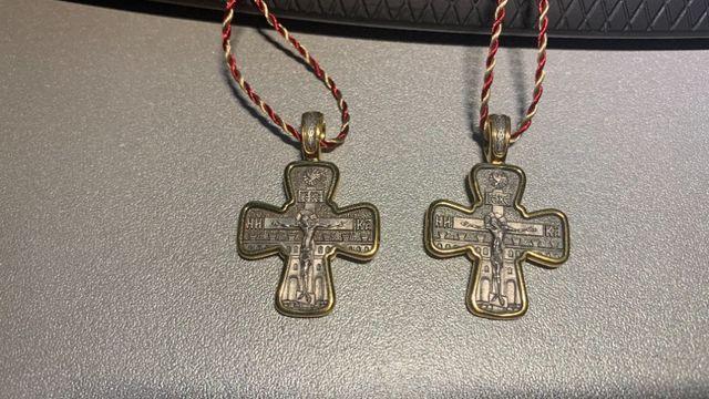 Krzyże prawosławne krzyżyki imienne św Piotr i Paweł