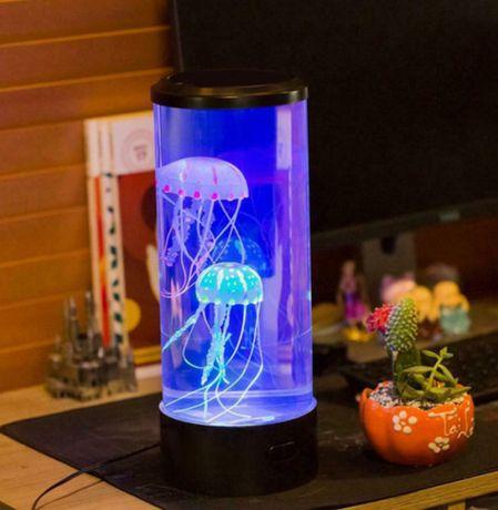 ОПТ/РОЗ Лампа ночник со светодиодными медузами LED Jellyfish Mood amp