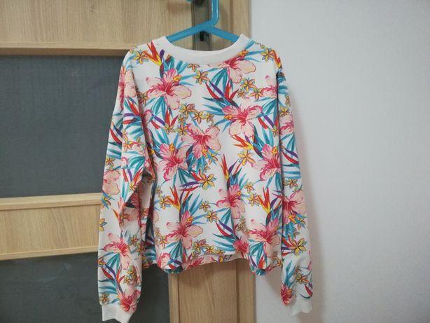 Bluza Sinsay xs krótka w kwiaty
