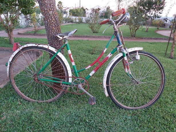 Bicicleta pasteleira vintage, feminina