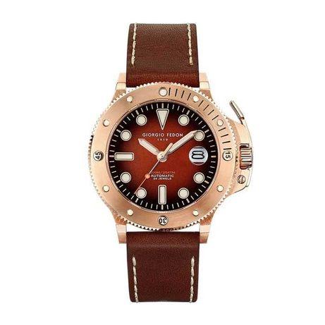 Giorgio Fedon Aquamarine Men's Automatic Watch IP Rose Gold