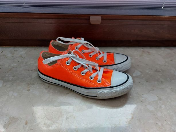 Neonowe pomarańczowe Converse tenisówki 36,5