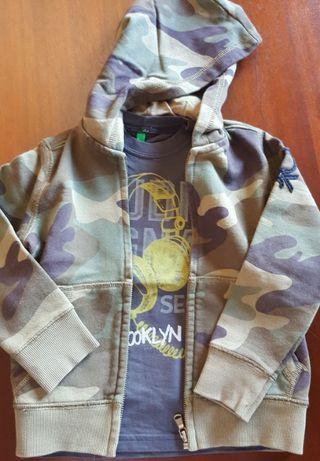 Conjunto casaco e camisola Benetton menino 5 anos - portes incluídos