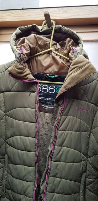 kurtka damska M- mała L narciarska zimowa pikowana ciepła