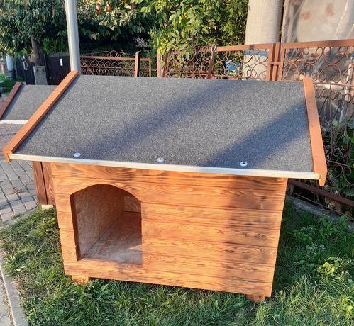 Buda dla psa ocieplana podnoszony dach