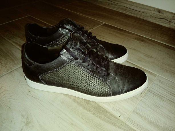 Męskie skórzane buty rozmiar 40