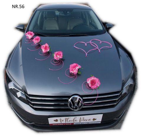 Dekoracja samochodu ozdoba na auto do ślubu NR.56 DOWOLNY KOLOR