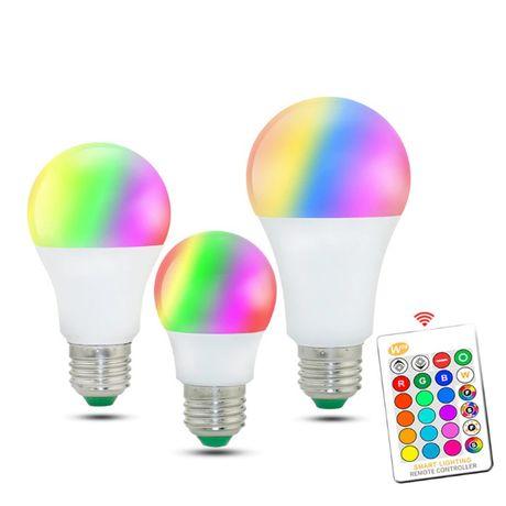 Светодиодная лампа 15W E27 с пультом 220V