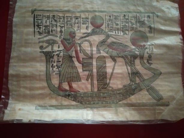 Telas ( papiros) 24 pinturas egípcias