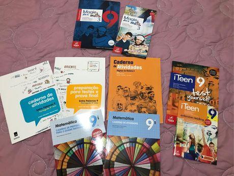 Cadernos de atividades e preparação pra teste e prova final