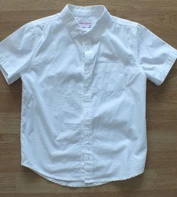 5 10 15 biała koszula krótki rękaw 134