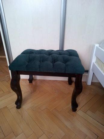 Pufa ławeczka ławka loft ludwik chesterfield 50x40