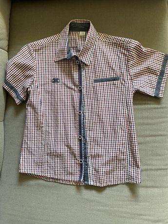 Koszula chlopieca 134 z krótkim rękawem