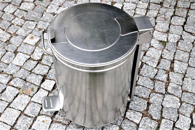 Kosz inox na odpady 50 ltr. pokrywa podnoszona na pedał