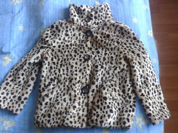 Женская куртка леопардовая размер S