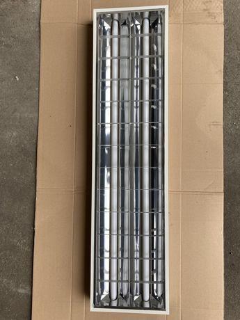 Lampa oprawa rastrowa natynkowa panel natynkow 120x30 kompletna okazja