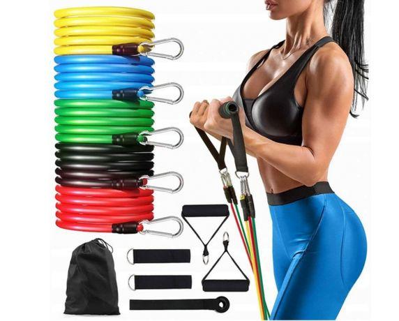 ZESTAW 5 GUM OPOROWYCH do Ćwiczeń fitness
