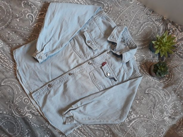 Koszula dziewczęca jeansowa 128cm