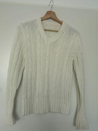 Kremowy sweter damski M