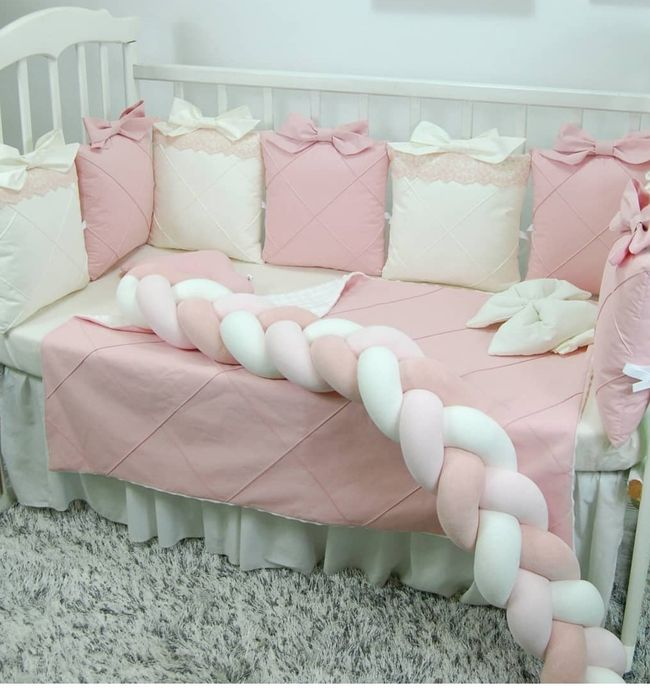 Комплект постелі, Бортики, Захист в ліжечко для немовлят. Львов - изображение 1