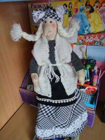 Текстильная баба Яга 55см