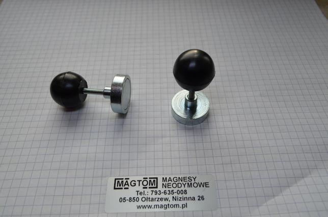 Magnes z gałką rączką E25 M4 pozycjonowanie foli tablica magnetyczna