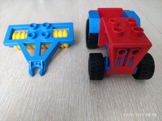 Lego duplo traktorek plus wał