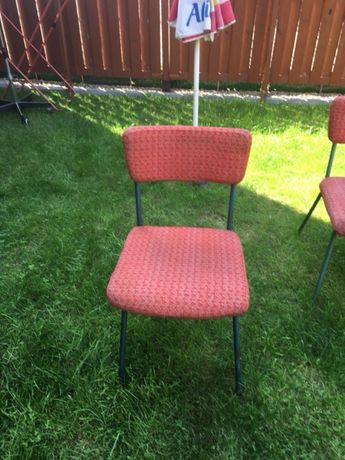 Krzesła metalowe-tapicerowane 3 sztuki