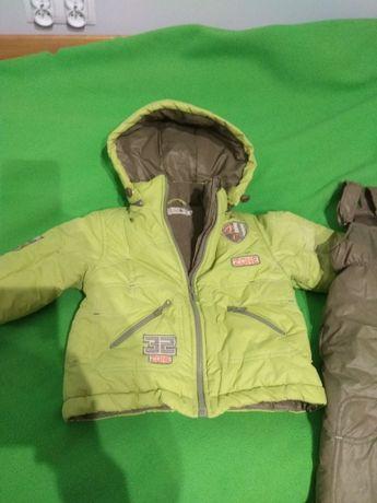 Kurtka spodnie zimowe dziecięce 80 cm komplet grube