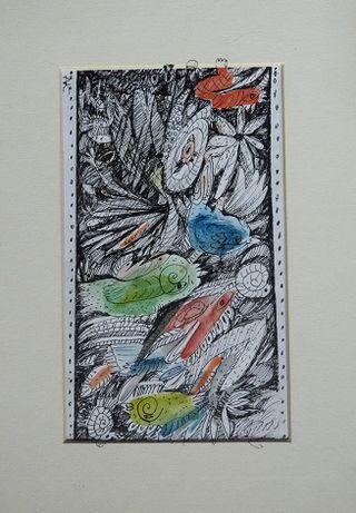 Kolorowa grafika Zagajnik