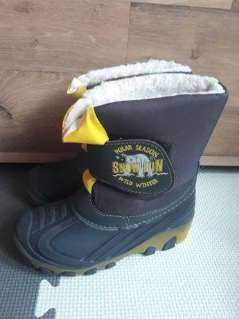 Buty zimowe, śniegowce świecące dla chłopca rozmiar 30