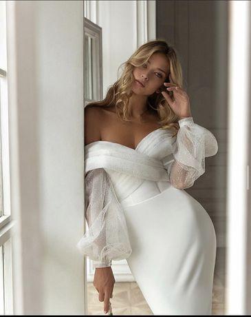 Весільне плаття 2020 р. Wish, куплене в салоні Crystal+шлейф з фатіну