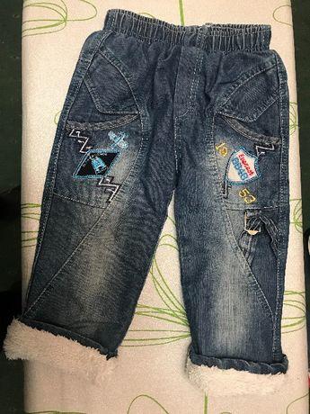 Штаны джинсы тёплые зима