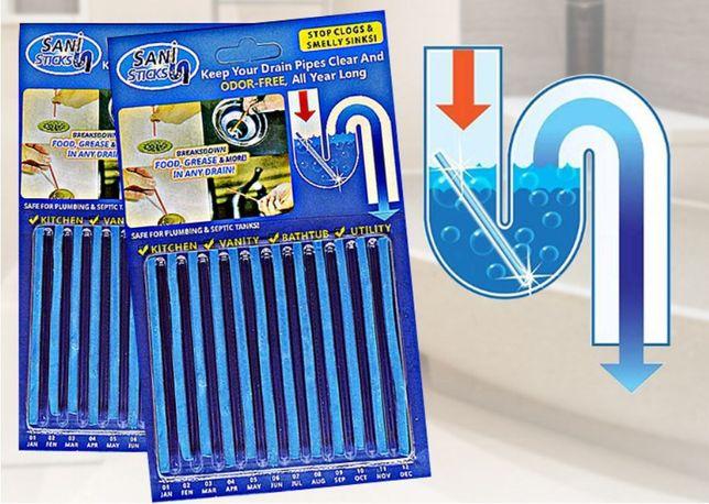 sani sticks палочки для очистки труб