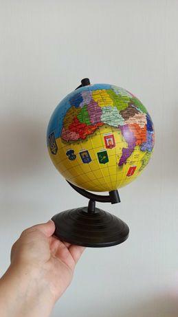 Глобус Украины, диаметр 16 см.