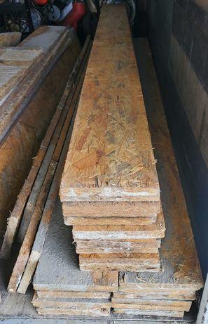 Szalunki, deska szalunkowa, fundament, wieniec, OSB 22mm, 74mb x 0,20m