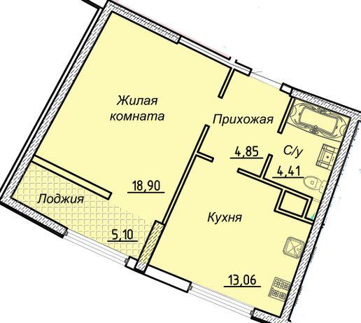 1-но комнатная квартира в сданном доме на Каманина. KADORR