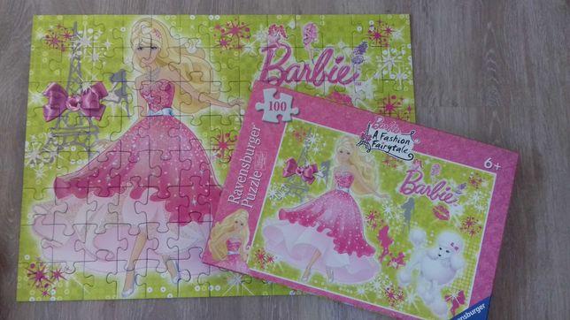 Puzzle układanki Barbie 100 el.