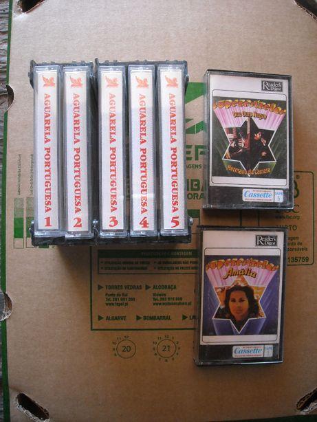 Cassetes de musica portuguesa como novas