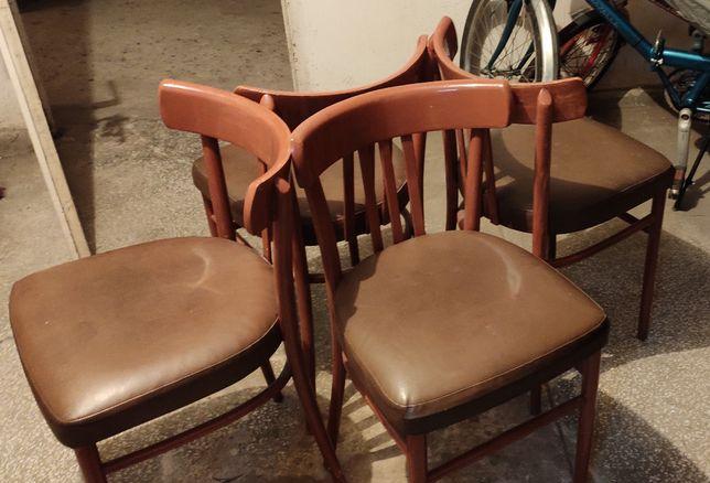 Fabryka mebli giętych Radomsko 4 krzesła, PRL