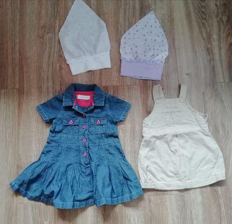 Sukienki dziewczęce rozmiar 68 i 74