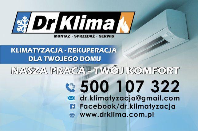 Montaż, sprzedaż, serwis Klimatyzacji - Rekuperacji dla Twojego domu!