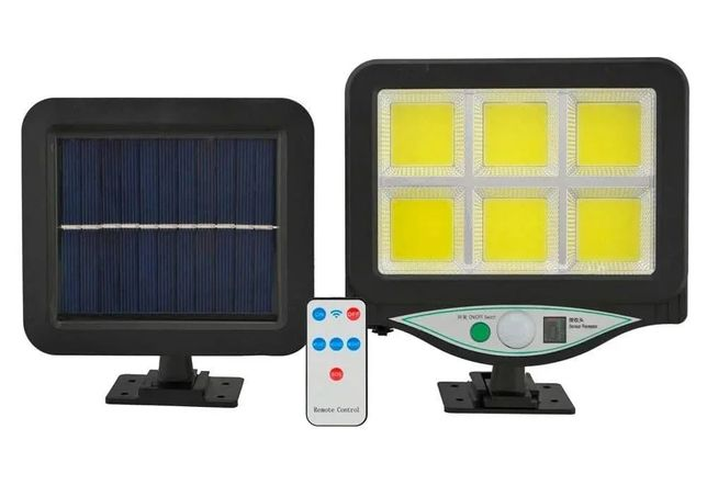 Уличный фонарь на солнечной батарее с пультом. Светильник фонарик