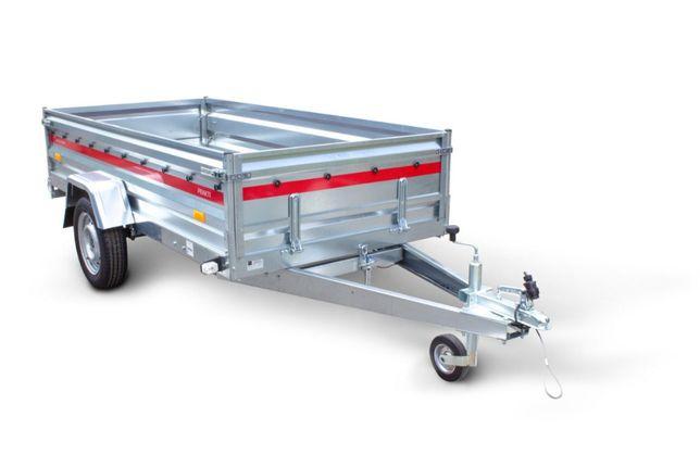 Przyczepka samochodowa- 750kg Tema Prakti 2612 wysoka burta NOWA