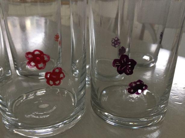 szklanki ręcznie zdobione