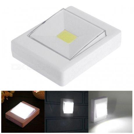 Світлодіодний LED світильник нічник вимикач на батарейках (Ліхтар)