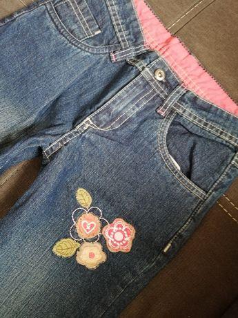 NOWE! Śliczne Spodnie Dżinsowe dla Dziewczynki - Rozmiar 134/140