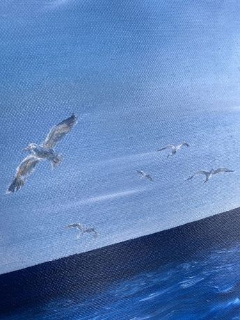 Картина маслом лето маслянная живопись море