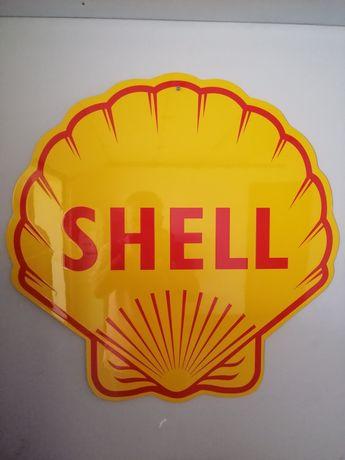Placa publicitária Shell